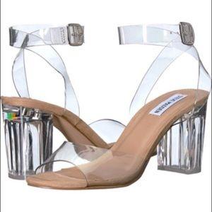 Steve Madden Claris Clear Block Heels